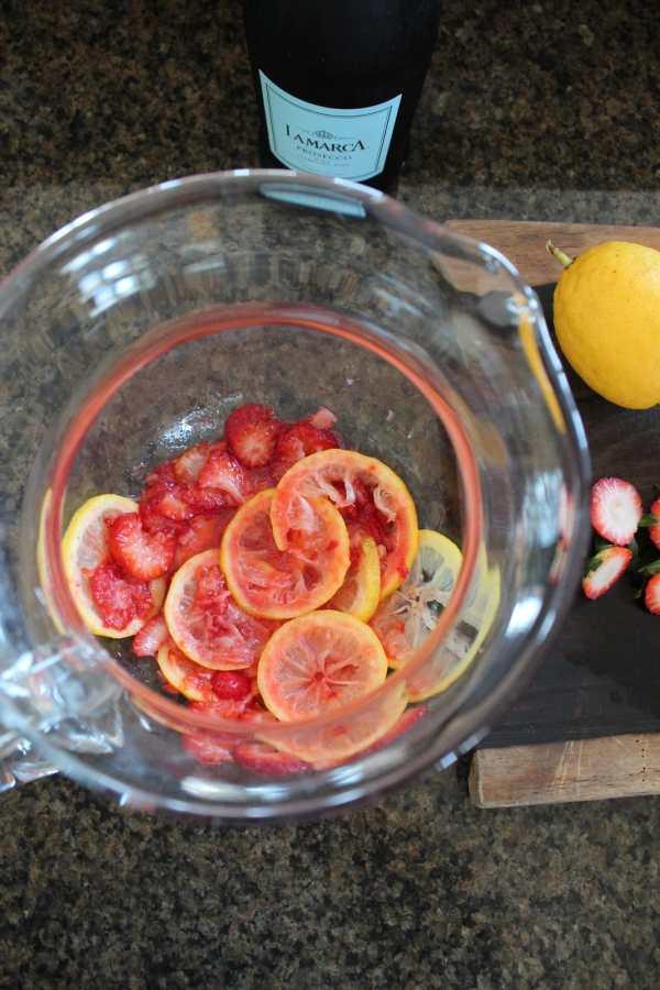 Lemon Berry Prosecco Sangria Recipe