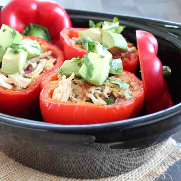 Paleo Chicken Stuffed Peppers