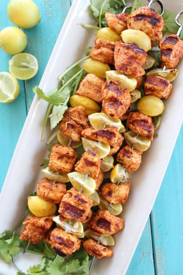 Key Lime Grilled Chicken Skewers