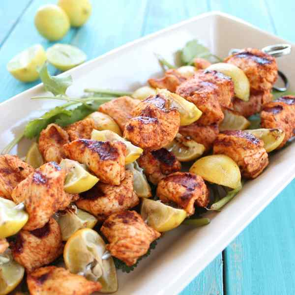 Grilled Chicken Taco Skewers