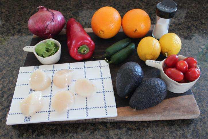 Scallop Ceviche Ingredients