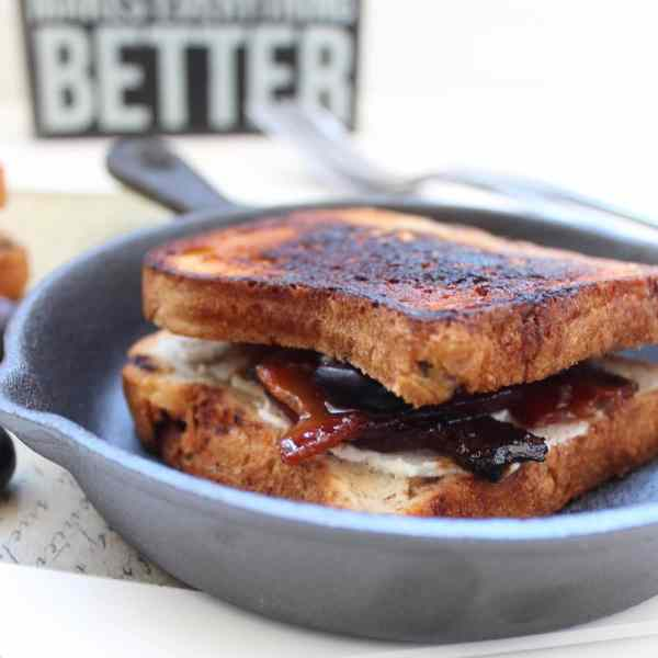 Bacon Goat Cheese Grilled Cheese