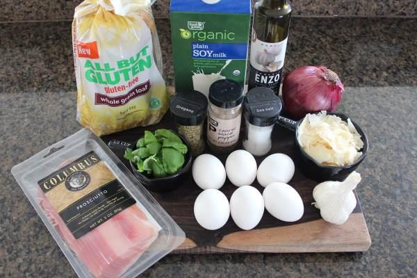 Gluten Free Breakfast Strata Ingredients