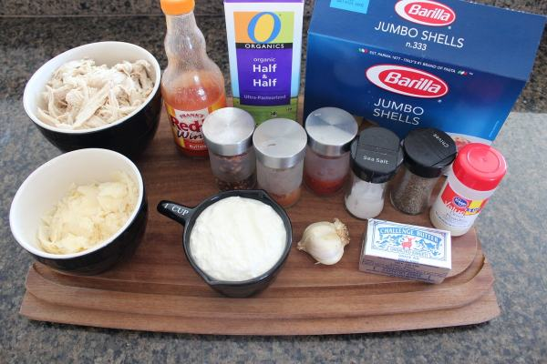 Buffalo Chicken Alfredo Stuffed Shells Ingredients