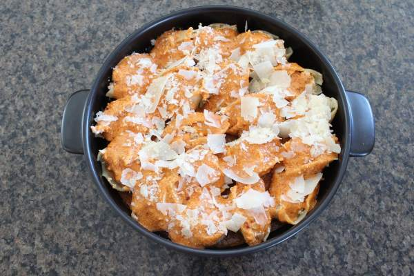 Buffalo Chicken Alfredo Stuffed Shells Recipe