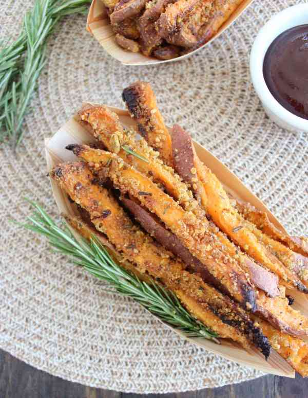 Crispy Parmesan Sweet Potato Fries