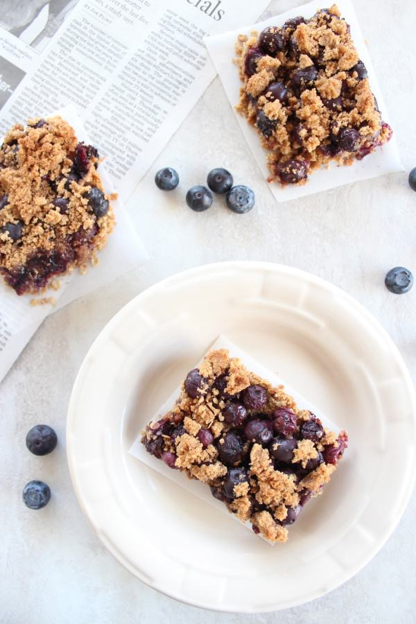 Gluten Free Starbucks Blueberry Oat Bars