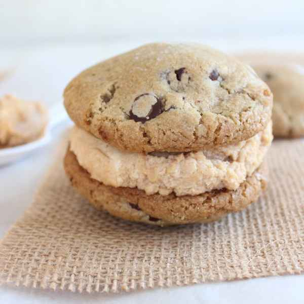 Peanut Butter Cheesecake Chocolate Chip Cookie Sandwich