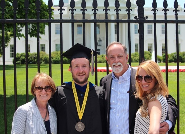 Whitney Bond with Family at the White House