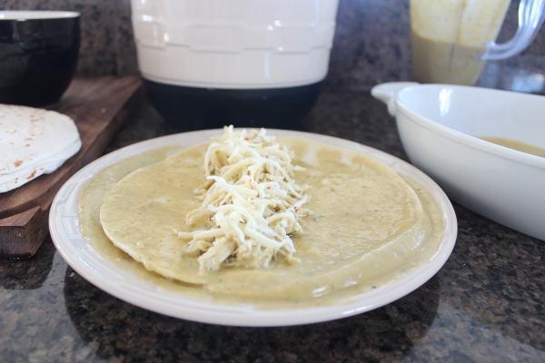 Creamy Avocado Chicken Enchilada Recipe
