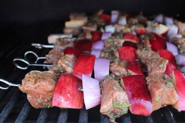 Grilled Pork Tenderloin Skewers