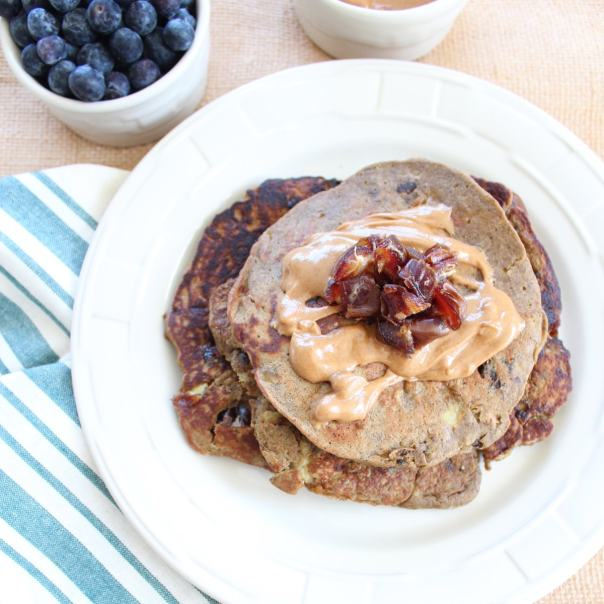Banana Date Protein Pancakes