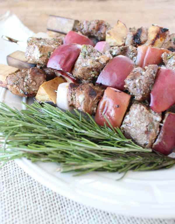 Rosemary Sage Pork Tenderloin Skewers