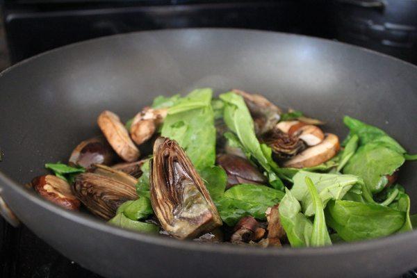 Spinach Artichoke Mushroom Risotto Recipe