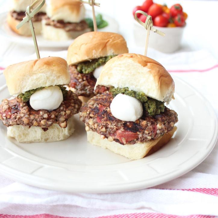 Gluten Free Veggie Burger Sliders
