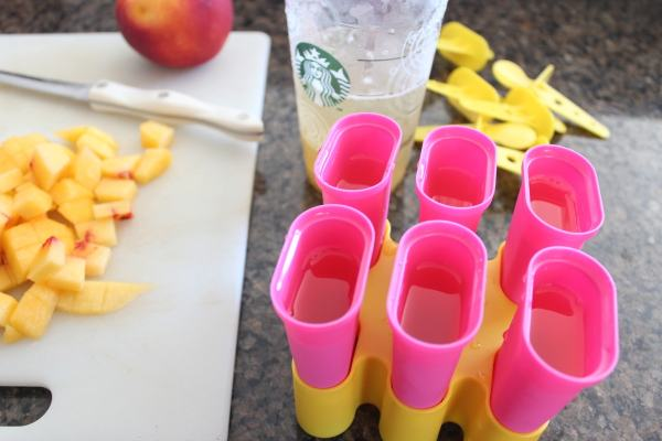 Peach Green Tea Lemonade Popsicle Recipe