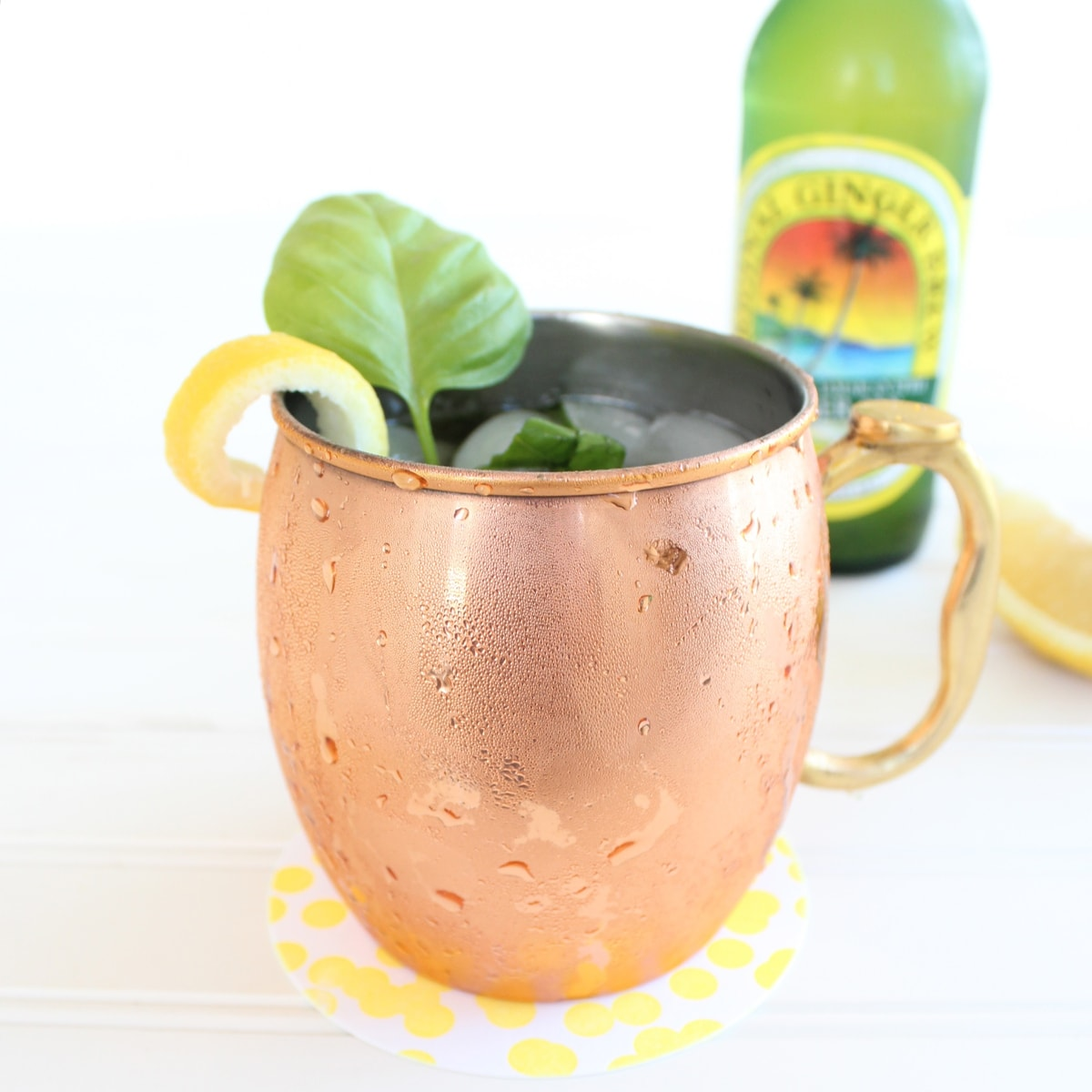 Peach Basil Moscow Mule