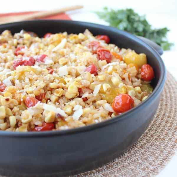 Roasted Corn & Tomato Risotto