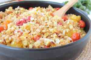 Roasted Tomato and Corn Risotto