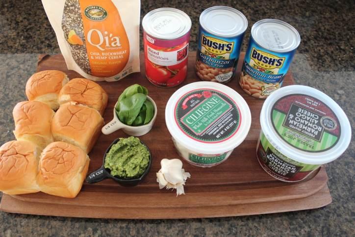 Caprese Veggie Burger Slider Ingredients