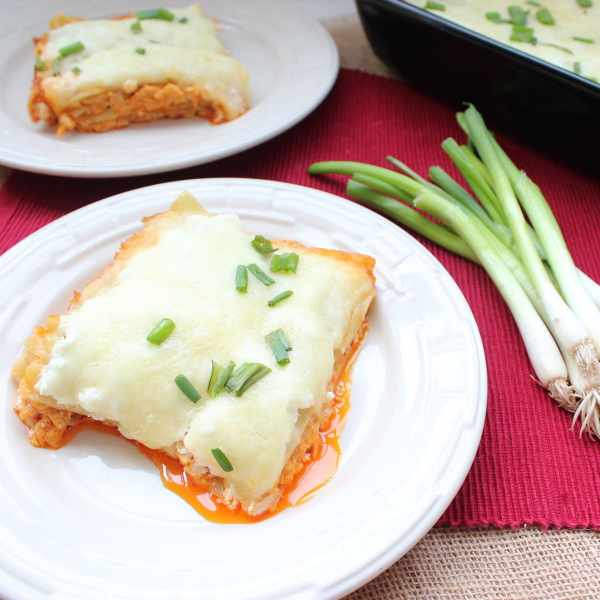 Buffalo Chicken Alfredo Lasagna
