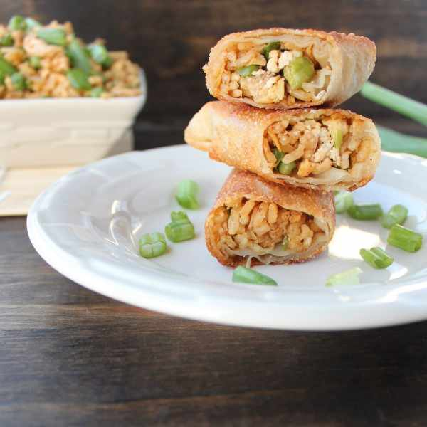 Chicken Fried Rice Egg Rolls