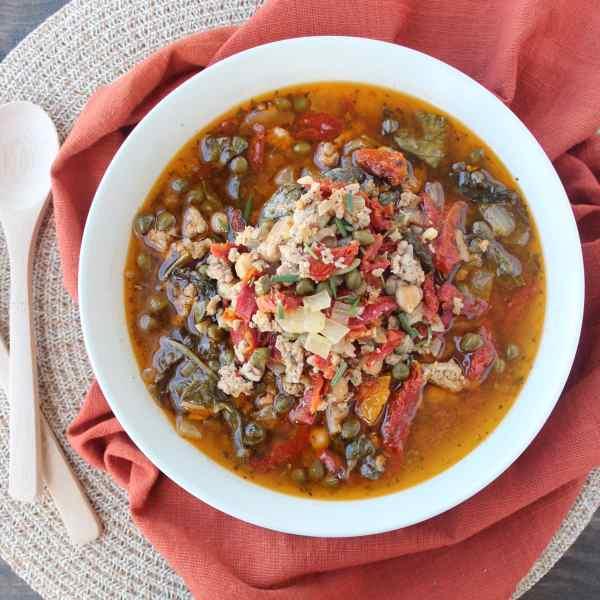 Gluten Free Greek Turkey Soup