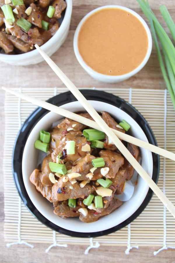Thai Peanut Beef Noodle Bowl