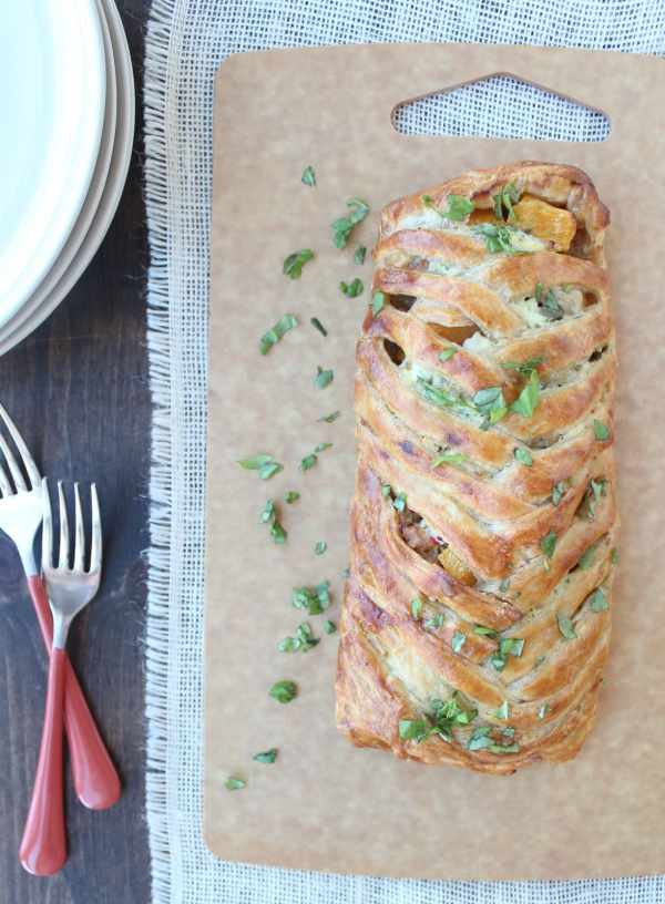 Braided Puff Pastry Strudel