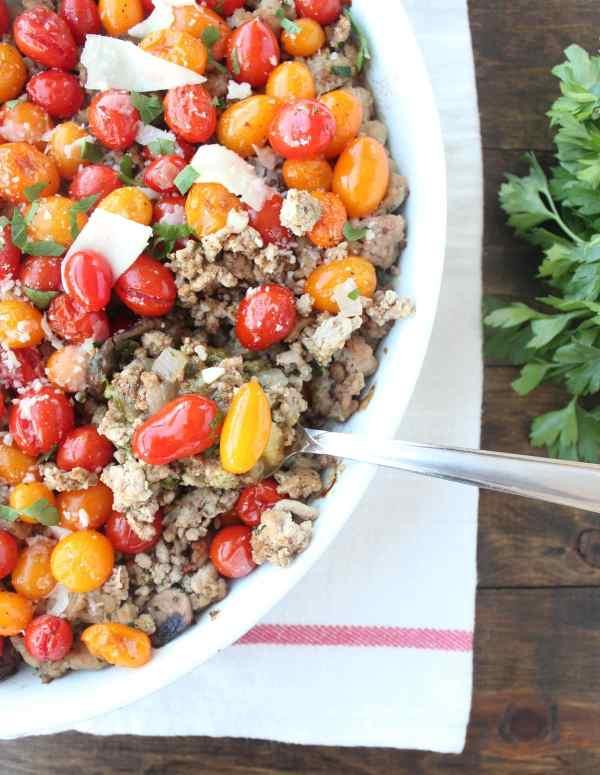 Italian Polenta Pesto Turkey Casserole