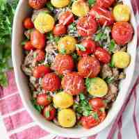 Italian Polenta Ground Turkey Casserole