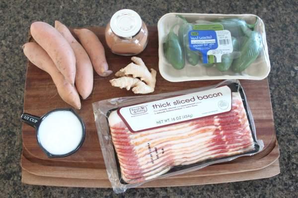 Bacon Sweet Potato Jalapeño Popper Ingredients