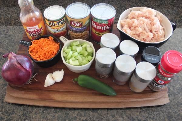 Buffalo Chicken Chili Ingredients