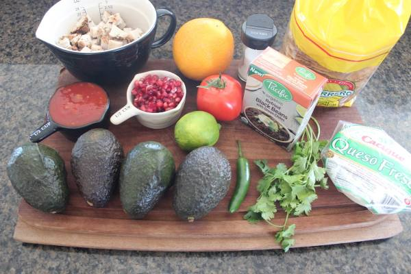 Turkey Tostada Ingredients