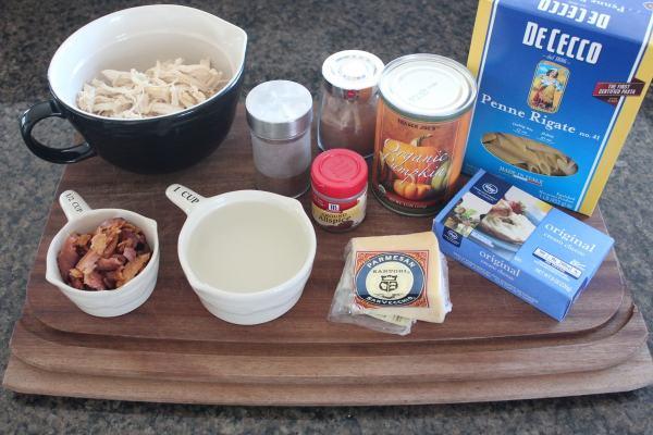 Pumpkin Chicken Alfredo Pasta Ingredients