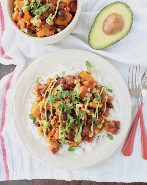 Mexican Vegan Sweet Potato Casserole
