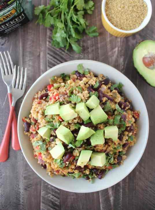 Vegan Mexican Freekeh Recipe