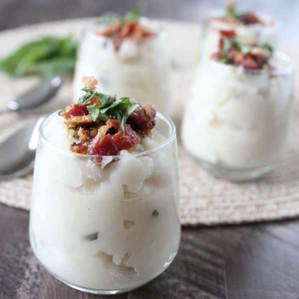 Basil Pesto Mashed Potato Soup Cups