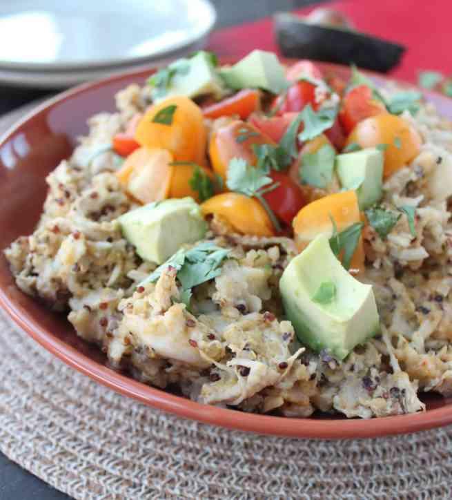 Chicken Enchilada Casserole with Quinoa