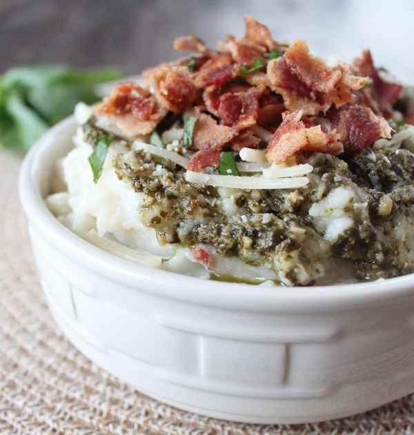 Garlic Basil Mashed Potato Soup