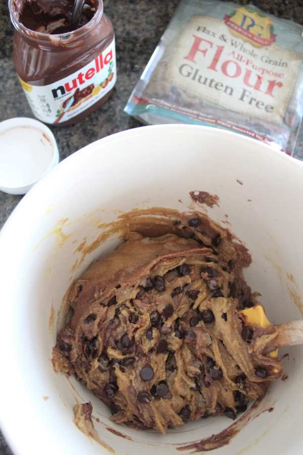 Gluten Free Nutella Chocolate Chip Cookie Recipe