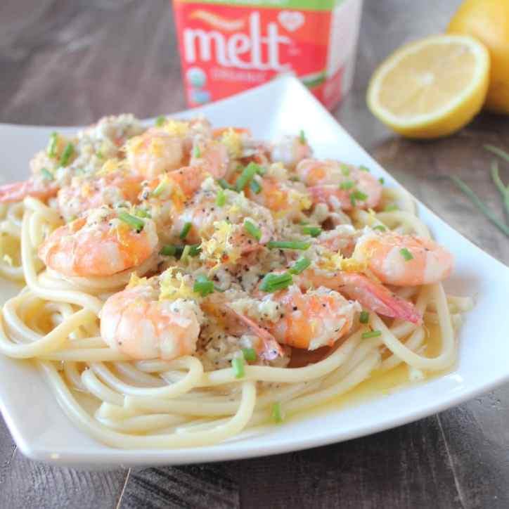 Dairy Free Garlic Lemon Butter Shrimp