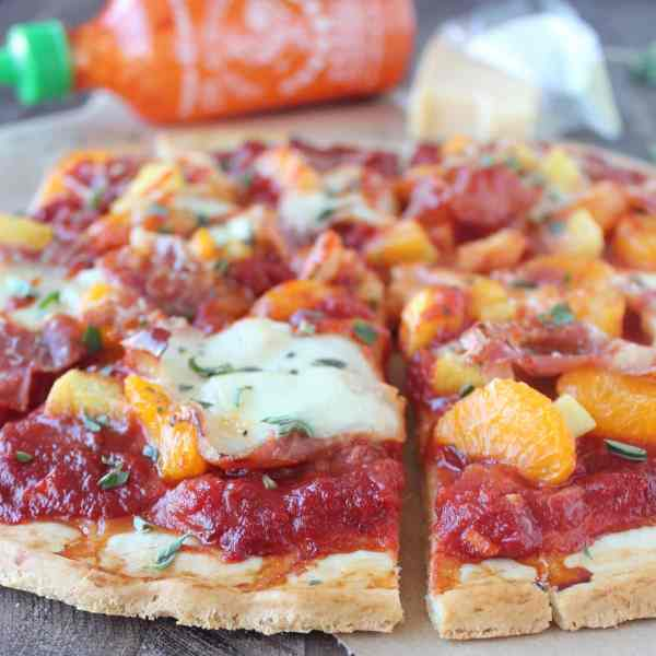 Hawaiian Pizza with Sriracha Pizza Sauce Recipe