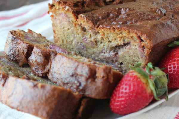 Gluten Free Strawberry Banana Bread Recipe