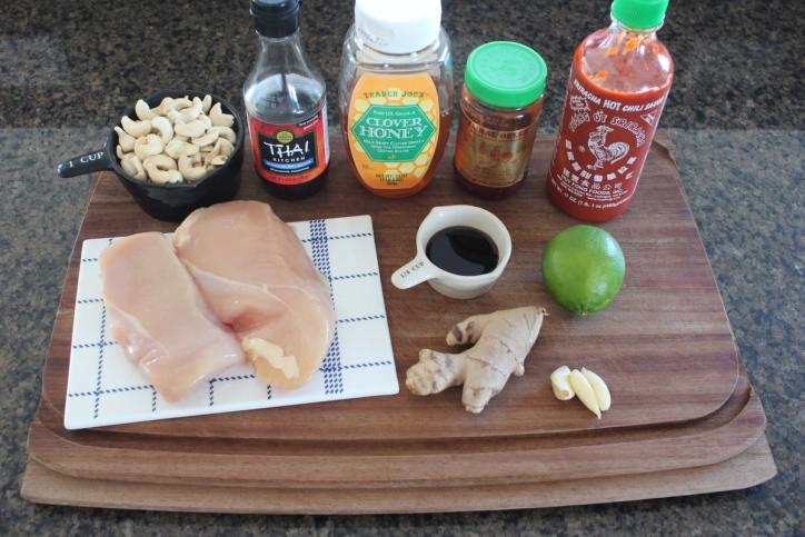 Thai Cashew Chicken Ingredients