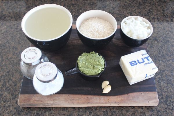 Cilantro Lime Pesto Risotto Ingredients