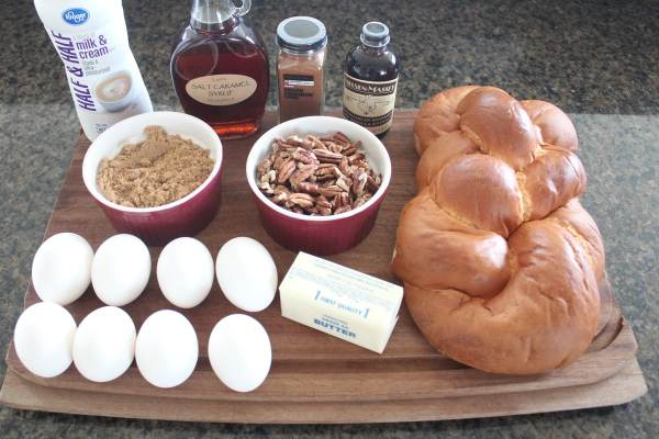 Salted Caramel Praline French Toast Ingredients