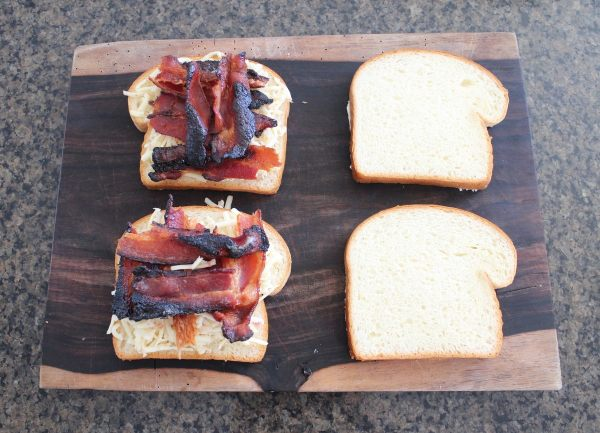 Sriracha Candied Bacon Grilled Cheese Recipe