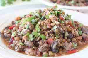 One Pot Mediterranean Sausage & Lentils Recipe