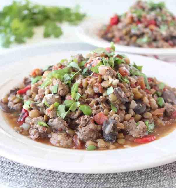 One Pot Mediterranean Sausage & Lentils